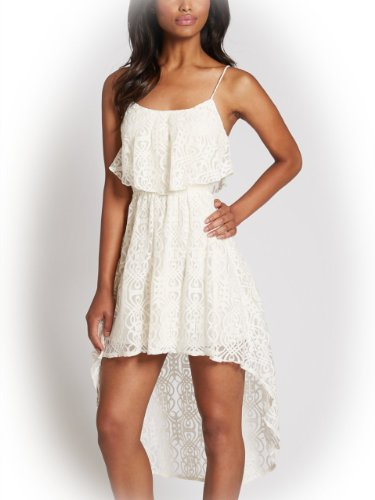 G by GUESS Women's Donelle High-Low Lace Dress
