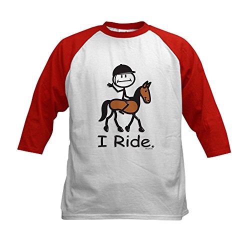 CafePress - English Horse Riding Kids Baseball Jersey - Kids