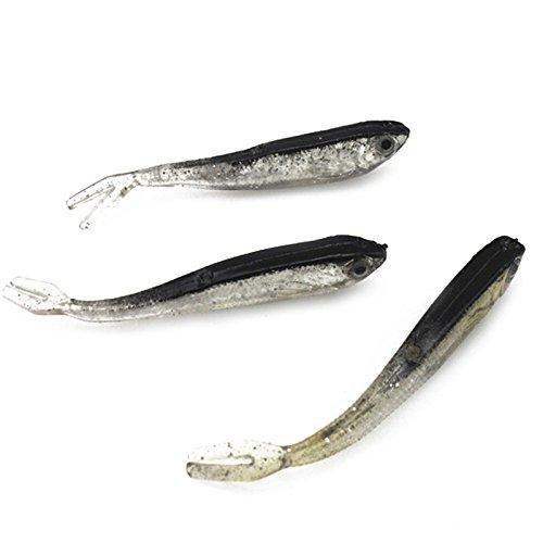 Swimming Minnow Crappie Lure - Soft Fishing Lure Gray Color - 10PCS 75mm 2.2gram Soft Fishing Lure Gray Lure Swimbait Silver Carp Fish Fishing Tackle lure hot sale Artificial Bait