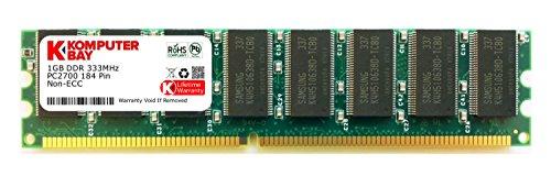 KOMPUTERBAY 1GB DDR DIMM (184 PIN) 333Mhz DDR333 PC2700 DESKTOP MEMORY [Personal Computers]