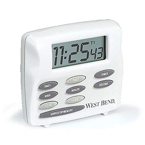 - Focus Foodservice 40053 West Bend Digital Timer, Triple Timer with clock, 2-1/2