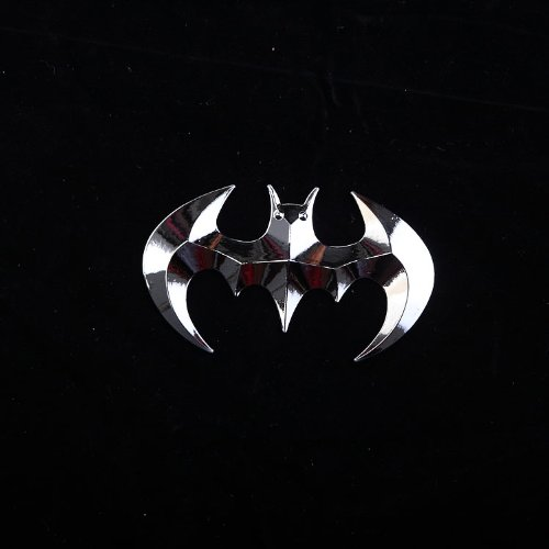 3D Batman Bat Logo Metal Style JDM Euro Cool Funny Car Decal or Sticker Silver Foremylife Auto Accessaries 1