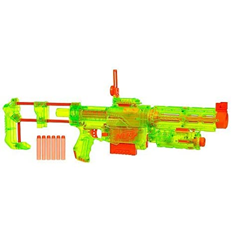 Amazon.com: Nerf N-Strike Recon CS-6 Sonic Series Blaster Translucent Green:  Toys & Games