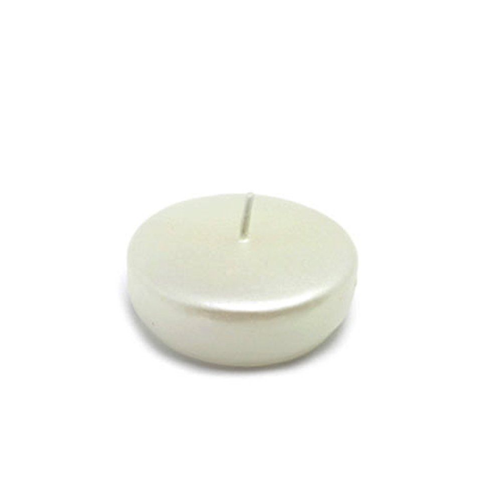 Zest Candle CFZ-078_4 96-Piece Pearl Floating Candle, 2.25'', White