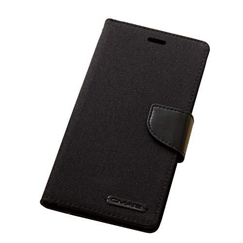 iPhone 7Plus Case iphone 8 Plus Leather Case canvas Wallet Slim Fit Folio Book Cover Flip Wallet Case With [Business Card Holder] for iPhone 7 Plus / 8 Plus (7plus/8plus 5.5inch, Black)