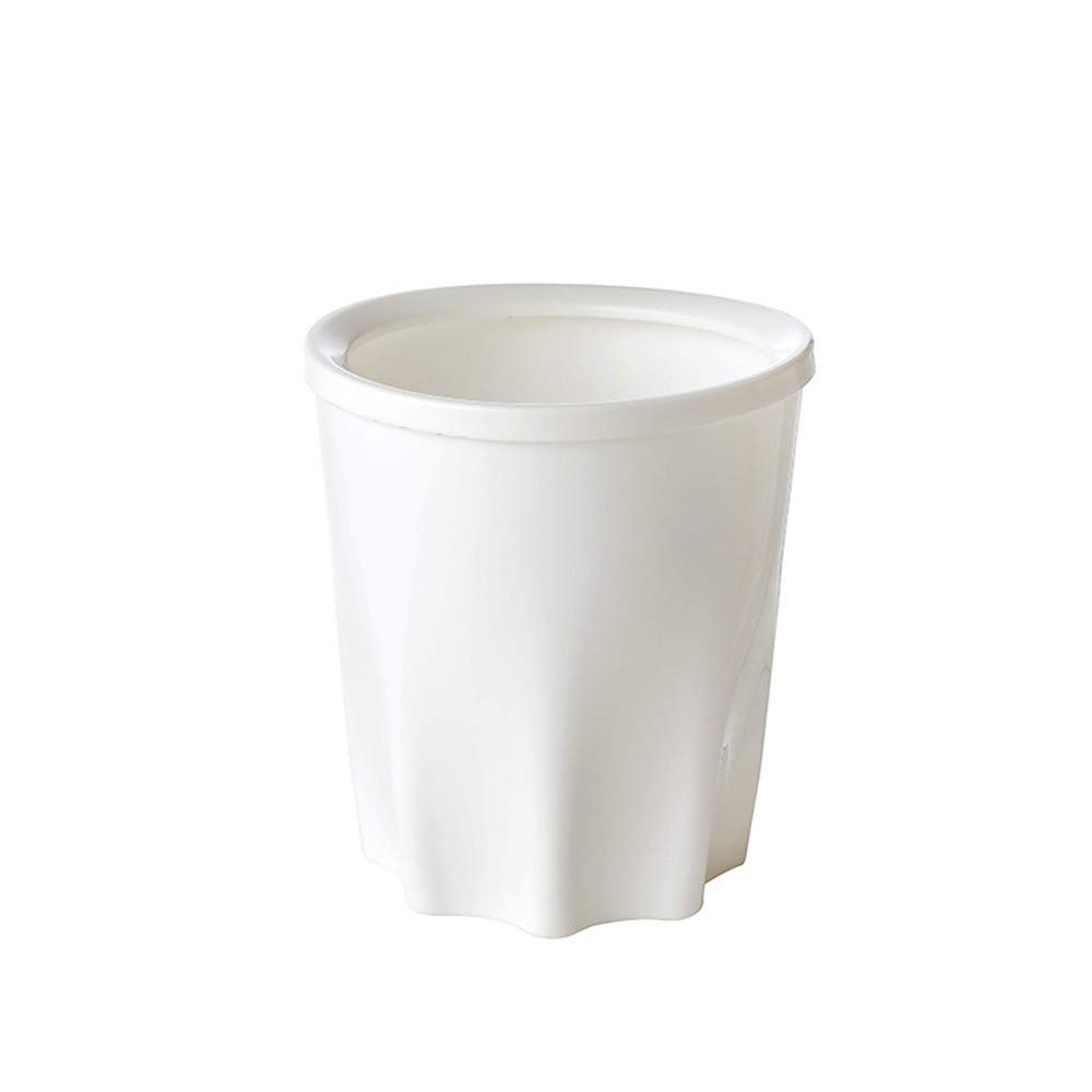 Wastebasket Trash Can, Creative Waste Recycling Trash Can, Kitchen Junk Store Content Box Cabinets Large Size Office Desk Trash Bin (15x16.5cm Trash Can)