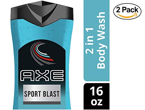 AXE 2 in 1 Body Wash and Shampoo for Men Sport Blast 16 oz - 2-PACK