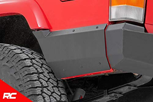 Rough Country Rear Lower Quarter Panel Armor Compatible w/ 1997-2001 Jeep Cherokee XJ Rear 10571