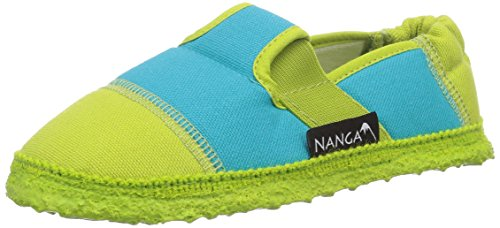 Nanga Klette - pantuflas de lana niño verde - Grün (Limette 93)