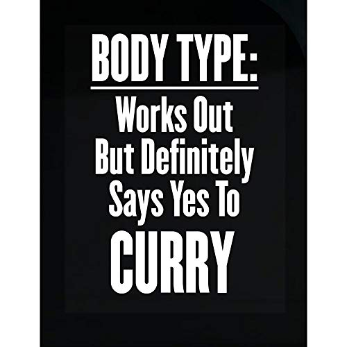 MESS Body Type: Works Out But Likes Curry - Transparent Sticker (Best Type Of Curry)