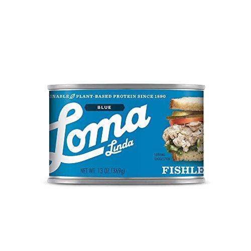 Loma Linda Blue - Vegan - Fishless Tuna (13 oz.) - Non-GMO, Gluten Free, (Atlantic Tuna)