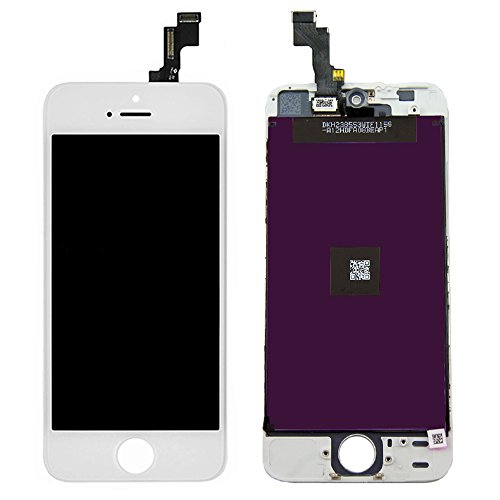 (White Retina LCD Touch Screen Digitizer Glass Replacement Full Assembly for iPhone 5S)