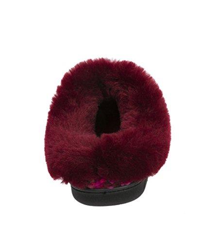 Large Clog 12 X Cabernet Women's B Popcorn 11 Slipper Knit US Black Memory Dearfoams M Foam RqpFU48wRx