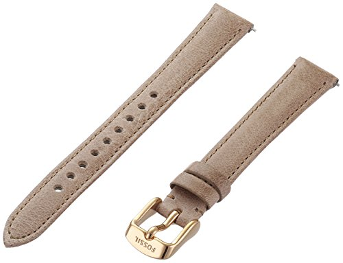 Fossil S141075 14mm Leather Calfskin Beige Watch (Beige Leather Strap Watch)