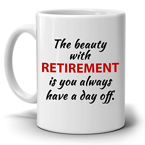 Inspirational Retirement Gift for Coworker, Perfect Gag Party Supplies Coffee Mug, Printed on Both Sides! Christmas Party Invitation Wording Religious