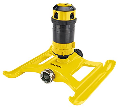 Dramm ColorStorm 4-Pattern Gear Drive Sprinkler, Yellow