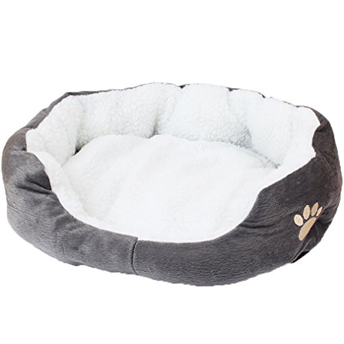 OpetHome Solid Sheep Velvet Dog Sofa Pet Nest Bed Grey