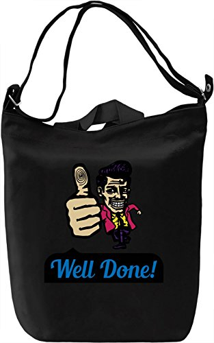 Well done Borsa Giornaliera Canvas Canvas Day Bag| 100% Premium Cotton Canvas| DTG Printing|
