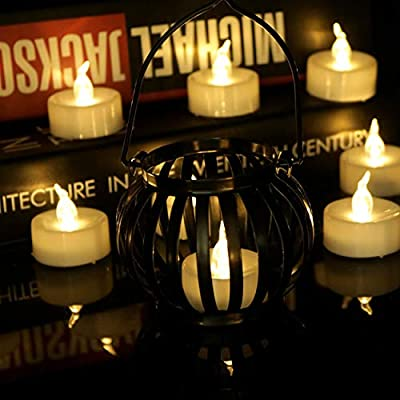 Warm White Flickering Led Tea Lights With Remote Control Flameless Battery Operated Flicker Votive Candles Flashing Bright Bulb Fireless Electric Tealight Superb For Candle Holder Luminary Bags 12 PCS