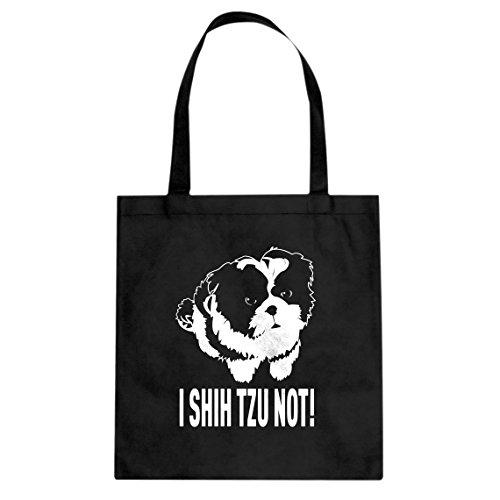 Shih Tzu Tote (Tote I Shih Tzu Not Large Black Canvas Bag)