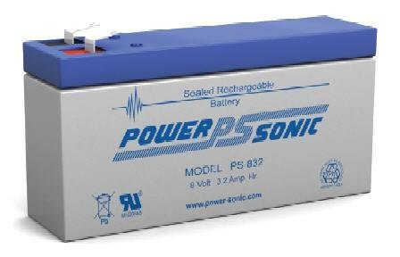 (Sealed Lead Acid Battery 8V 3.2AH 160mA FASTON 0.187