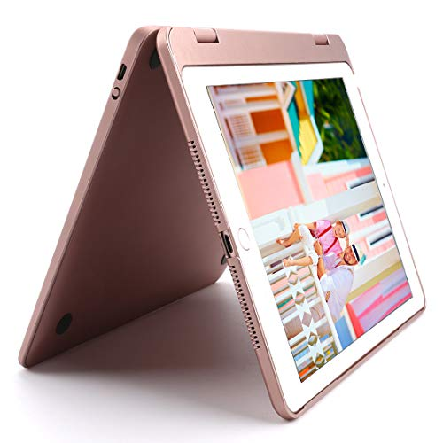 HuLorry Keyboard iPad Case for 2018 New iPad 9.7'', Bluetooth iPad Keyboard Case with Backlit 7 Color Folio Smart Stand Keyboard Case Compatible iPad 2018(6th Gen)/2017(5th Gen)/iPad Pro 9.7/Air 2/Air by HuLorry (Image #6)
