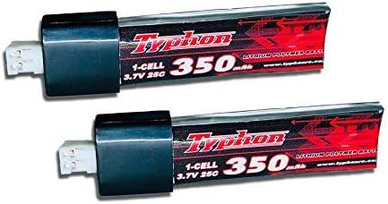 VUNIVERSUM 1x st/ück Power Lipo Akku 350mAh 1S 25C-40C 3.7V mit JST-PH 2.0 Stecker f/ür E-Flite Blade mCP X mCPx V2 Tiny Whoop Inductrix Racer TWR WLToys V911 V911-1 V911 F929 F939