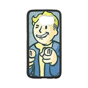 samsung galaxy s6 Case (TPU),samsung galaxy s6 Cell phone case Black for vault boy Fallout Game - KKHG5331261