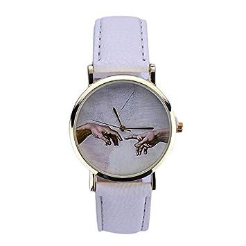 HTRHHG Relojes Mujeres Moda Cuero Reloj de Mujer Relojes Vintage Impreso Retro, 2: Amazon.es: Deportes y aire libre