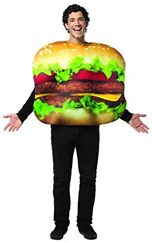 Rasta Imposta Cheeseburger Costume, Multi-Colored, One Size ()
