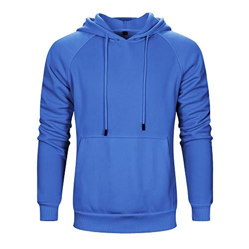 Homme À Sweat Casual Manches Avec Pull Bleu Sweater Ficelle Longues Shirt Sport Veste De Réglable CpZBCqwUT