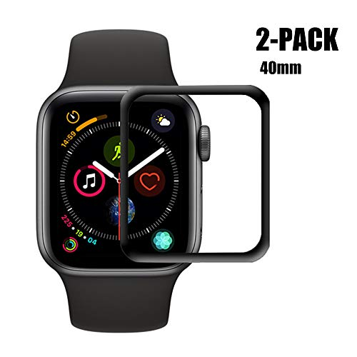 [2-Pack] Apple Watch Series 4 40mm Screen Protector Glass, HOMSRAY 3D Full Coverage Tempered Glass Screen Protector Film iWatch 40mm Series4