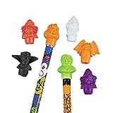 Fun Express - Halloween Pencil Top Erasers for Halloween - Stationery - Pencil Accessories - Erasers - Halloween - 144 Pieces