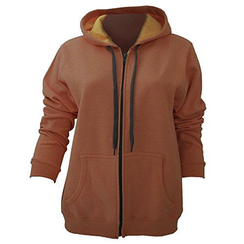 Gildan Ladies/Womens Heavy Blend Vintage Full Zip Hooded Sweatshirt / Hoodie (XL) (Sunset)
