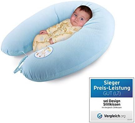 Sei Design bebé cojín de lactancia, almohada de embarazo XXL ,190 x 30 cm. La funda de algodón se puede utilizar en el frente y en la parte posterior, ...