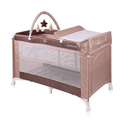 Cama paraguas bebé/cama plegable de 2 niveles Verona 2 Plus Beige