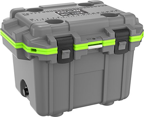 Pelican Elite 30 Quart Cooler (Dark Grey/Green)