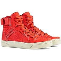 Gucci Men's Basketball High-top Sneaker, Dusk Red 409766