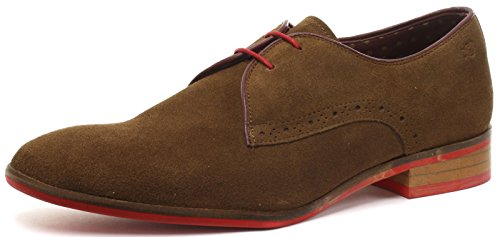 Suede London Herren Brogues Sole Tan Halbschuhe Croxley Red Derby YFvqYw