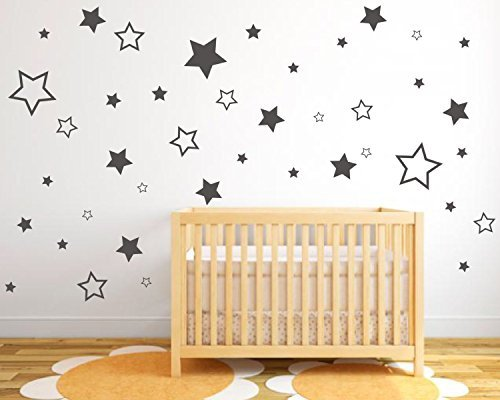 Stars Wall Stickers Pack Of Star Stickers In Various Sizes And Styles Stars Wall Art Star Stickers Decorating - Day Valentiens Ideas