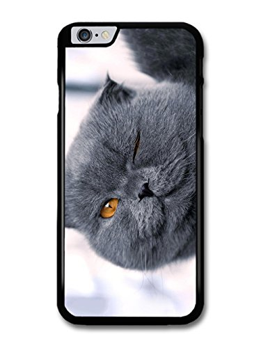 Cute Cool Funny Winking Cat British Blue Design case for iPhone 6 Plus 6S Plus