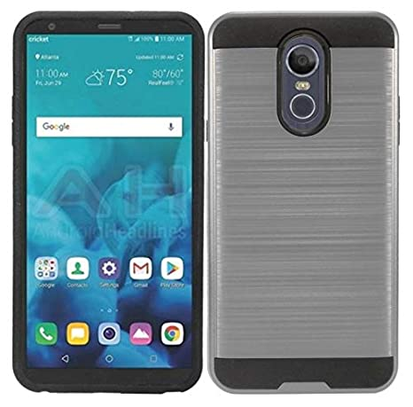 Amazon com: Metallic Hybrid Cover for {TracFone} LG Stylo 4