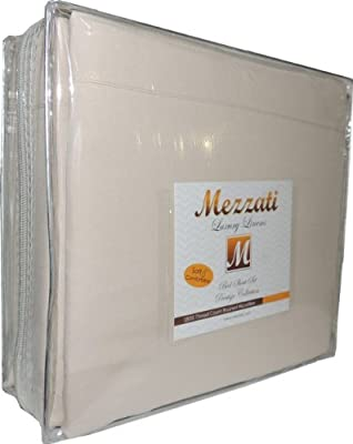 Mezzati Luxury Bed Sheet Set - Soft and Comfortable 1800 Prestige Collection - Brushed Microfiber Bedding