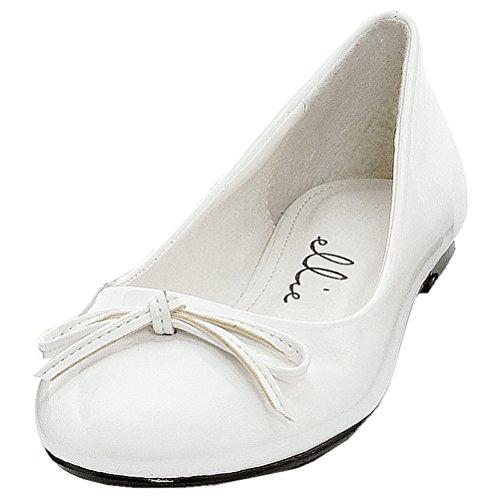 Balletto Classico Casual Con Fiocco Bianco Da Donna
