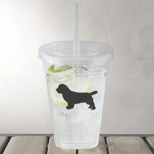 Sussex Tumbler - STICKERSLUG Sussex Spaniel Dog Classic 16 oz. Tumbler Double Wall Insulation with straw