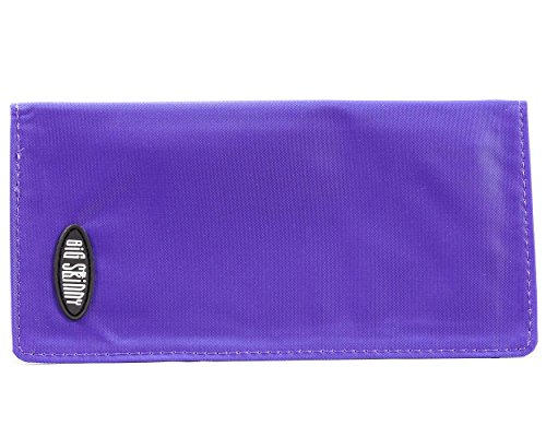 Big Skinny Swiss Slim Checkbook Cover, Purple