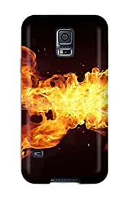 New Terry Willett Super Strong Fire-guitar Tpu Case Cover For Galaxy S5