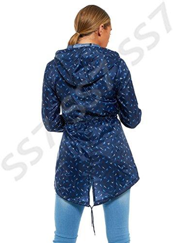 Navy Ss7 Parka Abrigo Impermeable Mujer Bird Para qXqRx