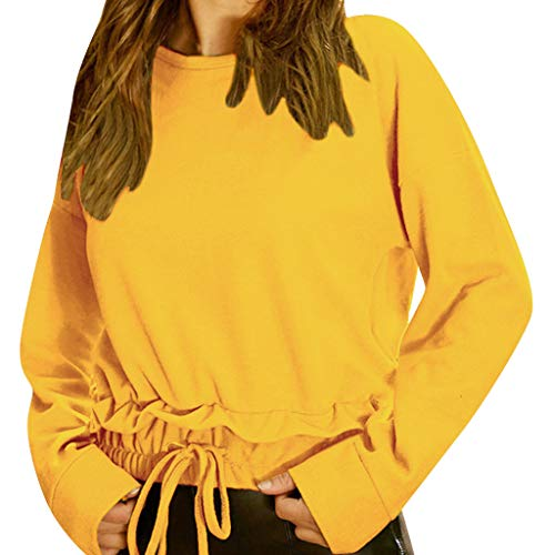 ❤️binggong Chic Tops Tunique Pas Chemise Couleur Lâche Femme Manches Rond Cher Unie Taille Femme Jaune Blouse Courtes T Chemisier Soiree Casual Shirt Col Grande qS6zEdEx