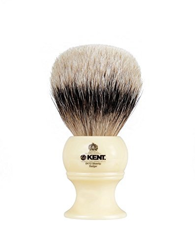Kent Pure Badger Silver Tip Bristle Shaving Brush Extra Large by Kent